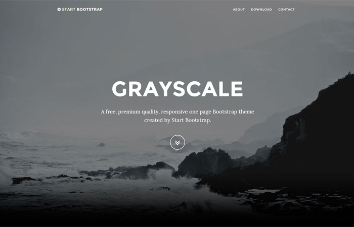 start bootstrap free one page responsive bootstrap templates and